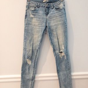 Refuge Distressed Light Blue Denim